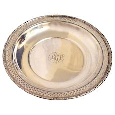 J. E. Caldwell by Towle Sterling Center Piece Bowl Reticulated