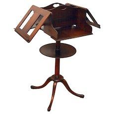 Antique Kittinger Mahogany Duet Music Stand