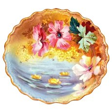 Limoges France Cupboard Plate Floral 10 ¾""