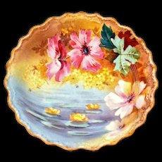 """Limoges France Cupboard Plate Floral 10 ¾"""""""