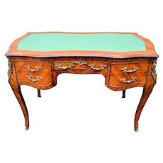 Louis XV Style French Ormolu Bureau Ladies Writing Desk