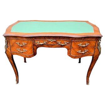 Louis XV Style French Ormolu Bureau Ladies Writing Desk
