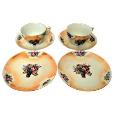 Lusterware Germany Two Sets of Three Piece Dessert/Sandwich Trio Set.