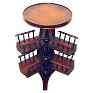 Mahogany Revolving Book Table Stand