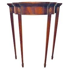 Mahogany Demi Lune Petite Table