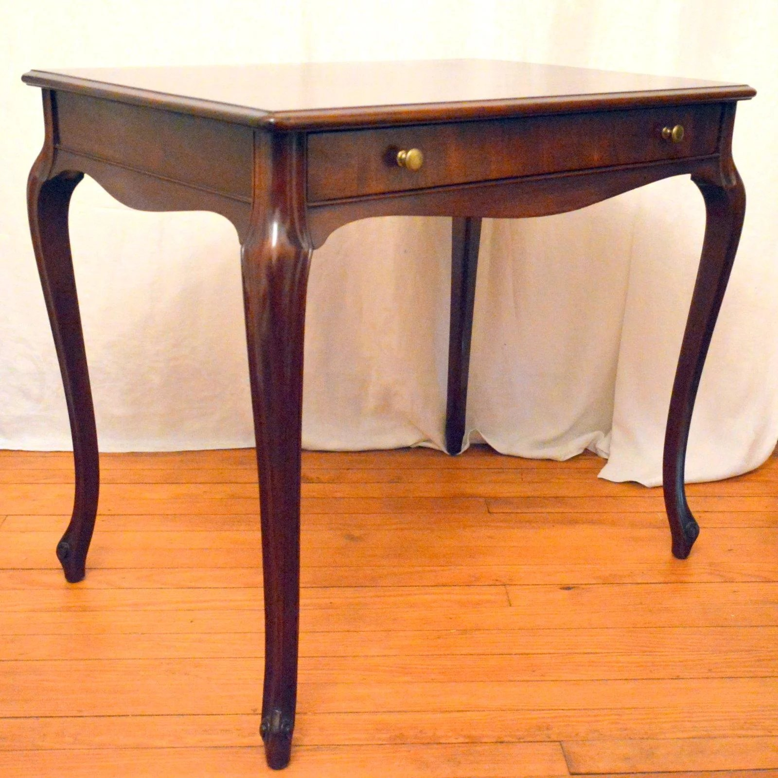 mahogany library table desk when drawer is opened pooley furniture co the front porch. Black Bedroom Furniture Sets. Home Design Ideas