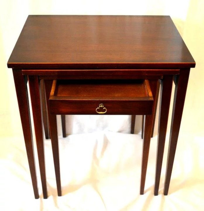 Mahogany Nesting Tables With Drawer Imperial Furniture Co The - Nesting table with drawer