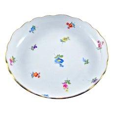 Carl Teichert Meissen Bowl Pattern Scattered Flowers