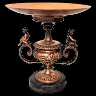 Antique Neoclassical Style Tazza Center Piece