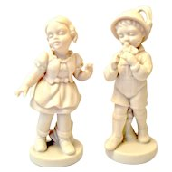 Parian Ware Germany Boy/Girl Figurines