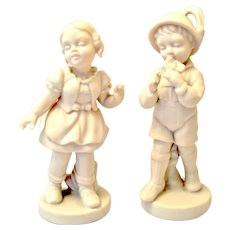 Parian Ware Germany Boy/Girl Figurines