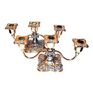 Poole Silver Company Candelabras 3-Light Silver-plate Old English Pattern