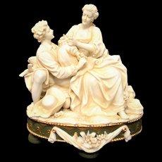 Porzellanfabrik E. & A. Muller Courting Couple Figurines