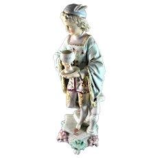 """Rudolstadt Porcelain Large Figurine Gentleman 15"""""""