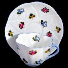 Shelley Dainty Cup and Saucer in the Forget Me Not Pattern