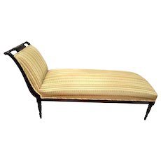 Sheraton Style Mahogany CHAISE Lounge Fainting Couch