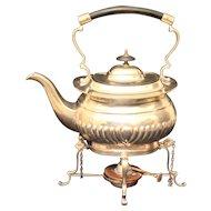 Tipping Teapot Silver Plate Cheltenham & Co. Sheffield England ESPN