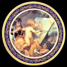 """T. Limoges  Porcelain Cabinet Plate Artist Signed L. G.12"""""""
