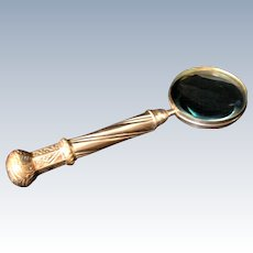 Victorian Silver Plate Magnifying Glass