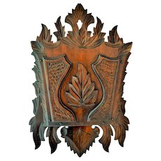 Victorian Walnut Hanging Magazine Rack
