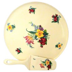 Vintage Erphila Art Pottery Dessert Platter Cake Plate Saver