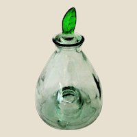 Vintage Fly Trap Green Tinted Glass