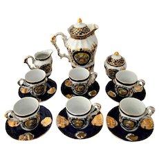 Vintage Limoges Tea Set-in Cobalt Blue