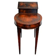 Vintage Weiman Smoke Table Flame Mahogany