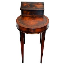 Vintage Weiman Smoke Table Flame Mahogany