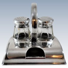 WMF Castor Salt Pepper Toothpick Holder Silver Plate