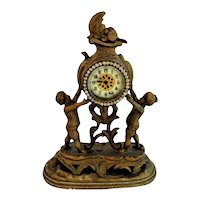 Whimsical Ornate Victorian Cherub Clock