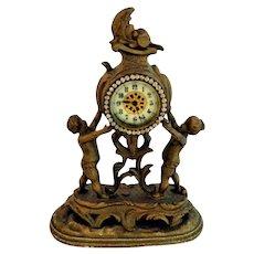 Whimsical Ornate Victorian Cherub Clock