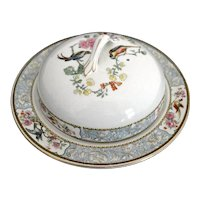 W. H Grindley Muffin Holder Dish Bird of Paradise