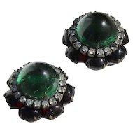 KJL  RARE Moghul  Jewels of India Cabochon Clip Earrings Gripiox by KJl