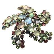 Weiss Pastel Star Fish Brooch / Earrings