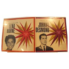 "Lena Horne  ""The Incomparable"" and Johnny Desmond ""Dance Party"" Sealed Vintage collectable Records"