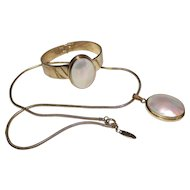 Whiting Davis Mother of Pearl Set
