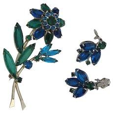 Juliana Floral Brooch Earrings Spring Set