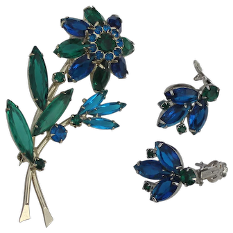 Juliana Floral Brooch Earrings Spring Set