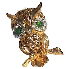 Jomaz Figural Owl Brooch