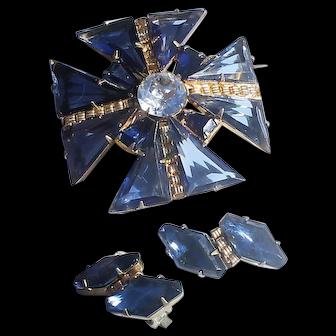 Schreiner Maltese Cross with Earrings