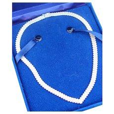 Sterling Sliver Milano V necklace