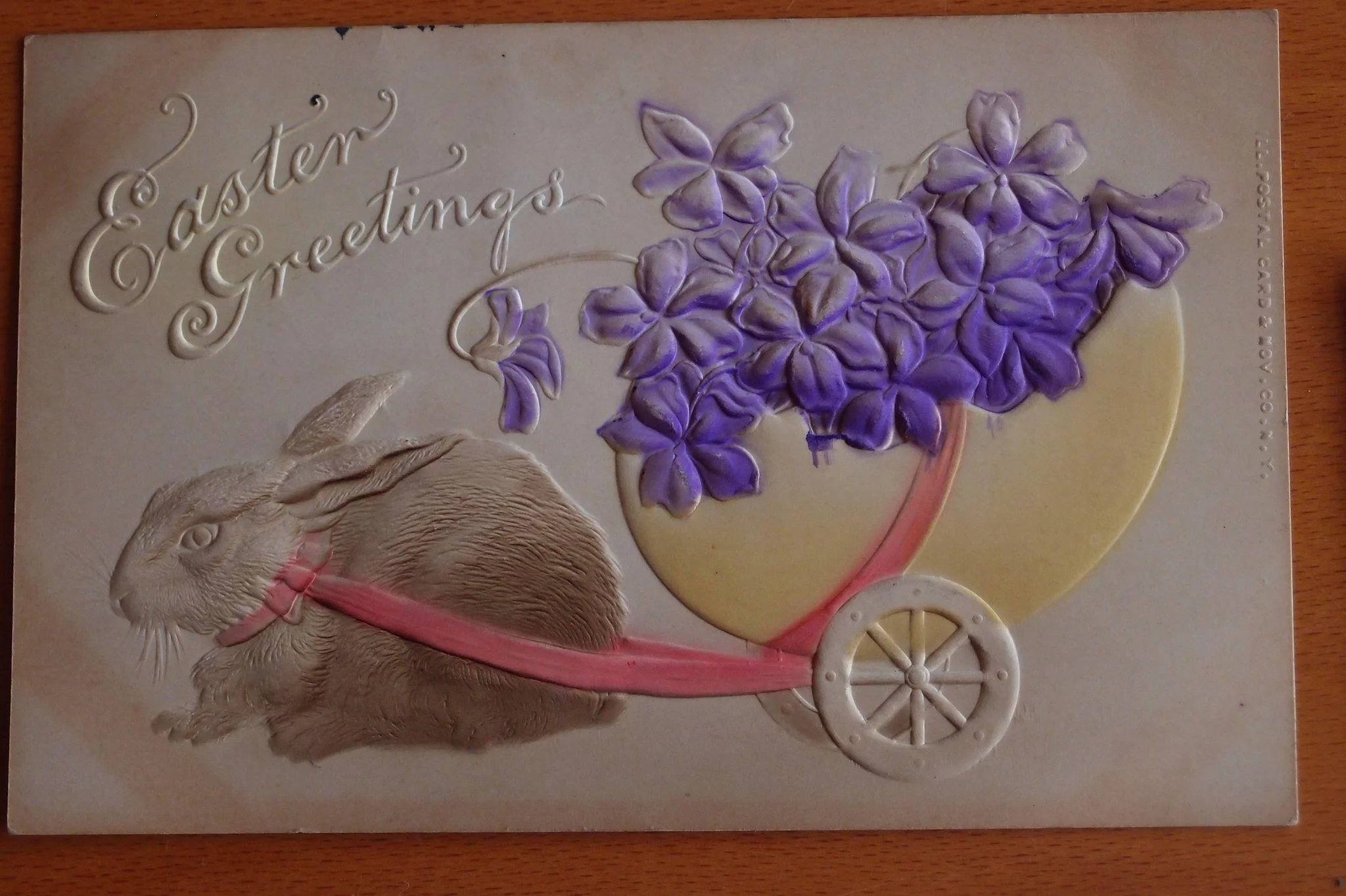 Easter Postcards Rabbits Antique Lot Of 3 Bangles And