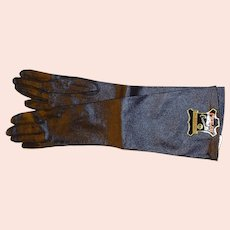 Long Black Kid Grained Gloves Size 6.5 - 50% off Shop from Home Sale