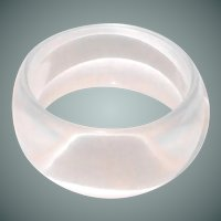 Wide Clear Lucite Bangle from 1960s
