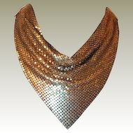 Goldtone Mesh Bib Scarf Necklace Final Reduction SALE