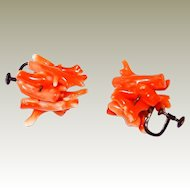 Victorian Natural Branch Coral Sterling Earrings in our FINAL REDUCTION SALE