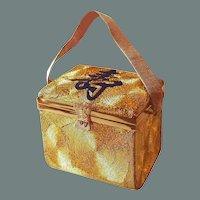 BIG SALE Asian Gold Silk Swirl Evening Bag Receipts Dated 1953