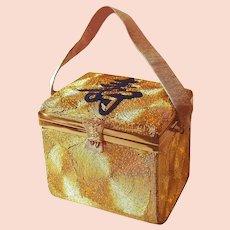 Asian Gold Silk Swirl Evening Bag Receipts Dated 1953