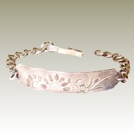 Hammered Sterling Floral and Bird Bracelet FINAL REDUCTION SALE